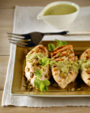 Spicy Grilled Chicken with Pumpkin-Seed Sauce