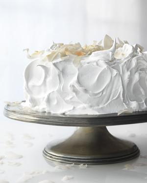 Meringue Frosting for Raspberry White Cake