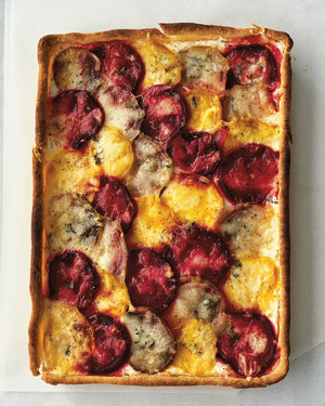 Red and Golden Beet Cheese Tart