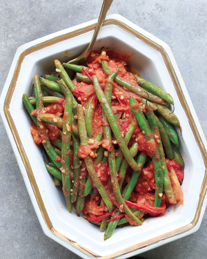 Green Beans with Ginger and Tomatoes