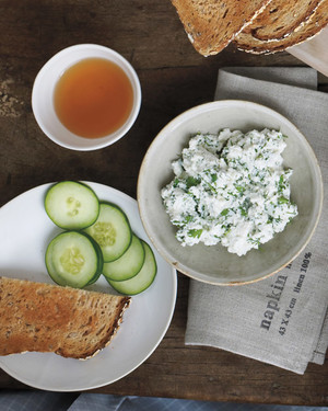 Ricotta, Herbs, and Cucumber