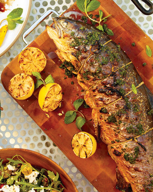 Grilled Whole Arctic Char