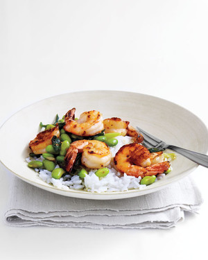 Shrimp and Edamame with Lime