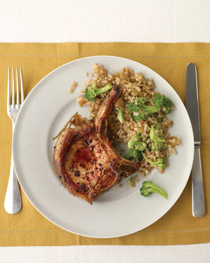 Spiced Pork Chop with Israeli Couscous