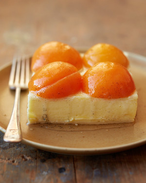 Cheesecake with Poached Apricot