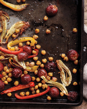 Roasted Fennel, Chickpeas, Peppers, and Grapes