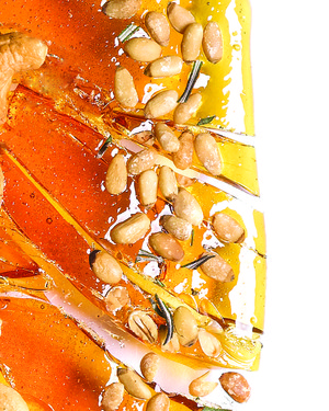 Pine Nut and Rosemary Brittle