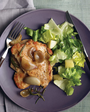 Turkey Cutlets with Rosemary and Shallots