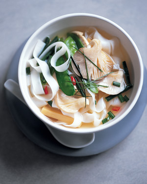 Thai Hot-and-Sour Chicken Soup with Wide Rice Sticks