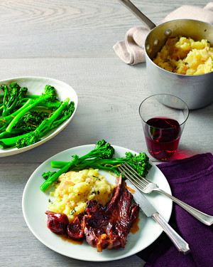 Smashed Parsnips and Potatoes with Thyme