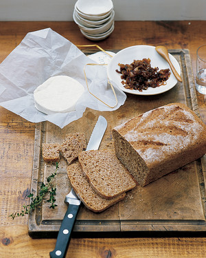 Whole-Grain Bread with Cheese and Candied Shallots