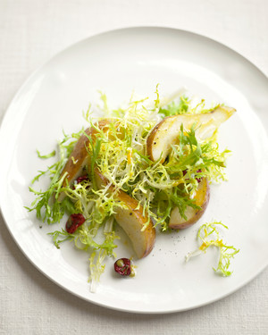 Frisee Salad with Pears and Dried Cherries