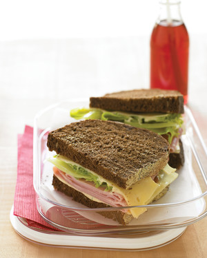 Ham and Swiss Sandwich with Dill Spread