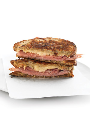 Grilled Ham-and-Gruyere-Cheese Sandwiches