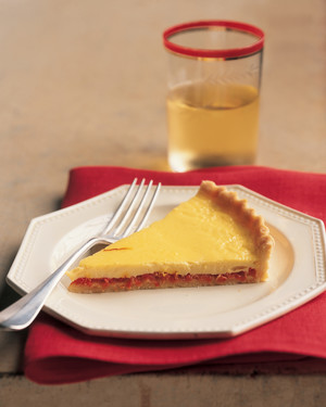 Roasted Pepper and Saffron Tart
