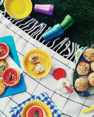 Basil Corn Muffins with Goat Cheese