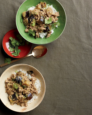 Green-Curry Pork and Eggplant