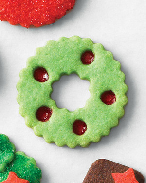 Stained-Glass Wreath Cookies