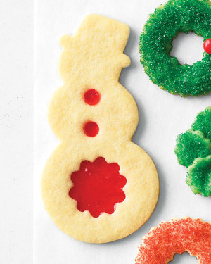 Stained-Glass Snowmen Cookies