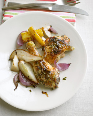 Roasted Chicken and Pears