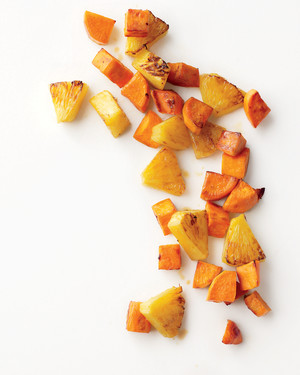Roasted Sweet Potatoes and Pineapple