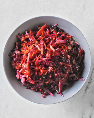 beet, fennel, and carrot salad
