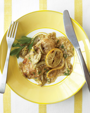 Chicken with Roast Lemons and Green Olives