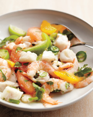 Shrimp and Snapper Ceviche with Tomatillos