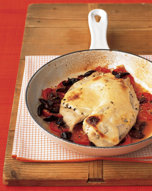 Baked Fish with Tomatoes and Olives