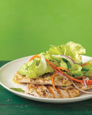 Grilled Chicken Paillards With Mint Salad Recipe Martha Stewart