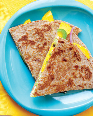 Goat Cheese and Mango Quesadillas