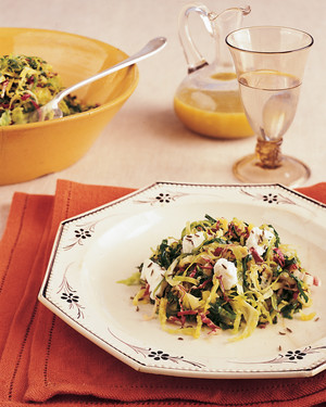 Wilted Brussels Sprouts Salad with Warm Apple-Cider Dressing