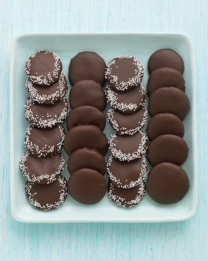 Chocolate Mint Wafers with Sprinkles