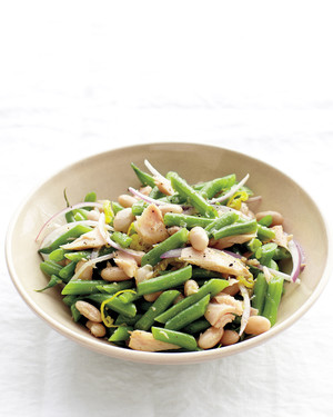 Green And White Bean Salad With Tuna Recipe Martha Stewart