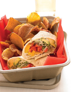 Hummus and Vegetable Wrap