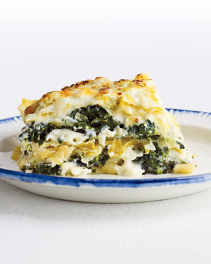 Rich Spinach and Leek Lasagna