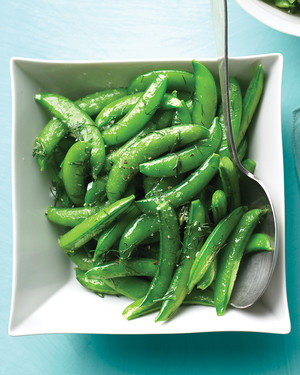 Snap Peas with Dill Butter