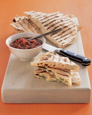 Grilled Portobello Quesadillas