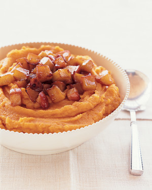 Whipped Sweet Potatoes with Ginger and Caramelized Apples