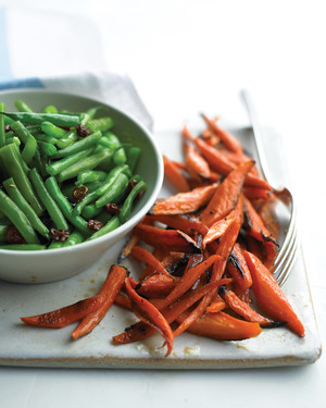 Green Beans with Raisins and Lime