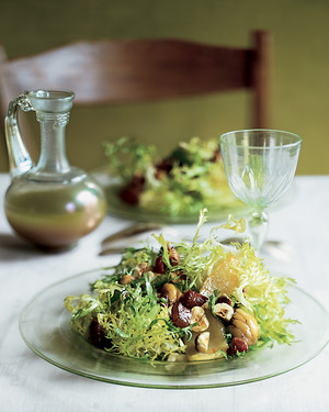 Frisee, Chestnut, and Pear Salad