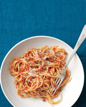 Spaghetti with Tomato-Anchovy Sauce