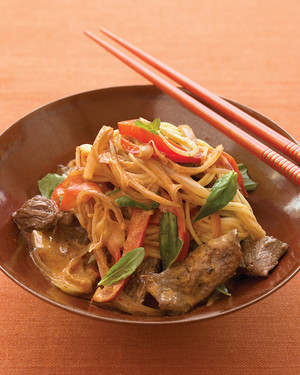 Coconut and Beef Curry with Noodles