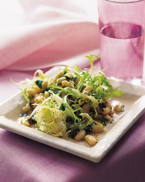 Flageolet Bean and Frisee Salad