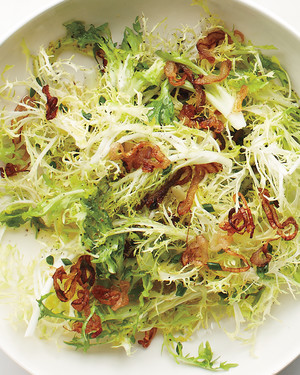 Frisee with Crisp Shallots and Honey Vinaigrette