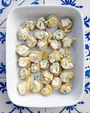 New Potatoes with Aioli and Preserved Lemons