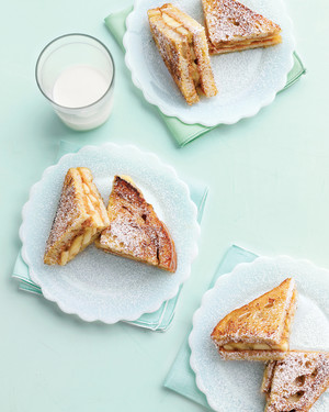 Grilled Peanut-Butter and Banana Sandwiches