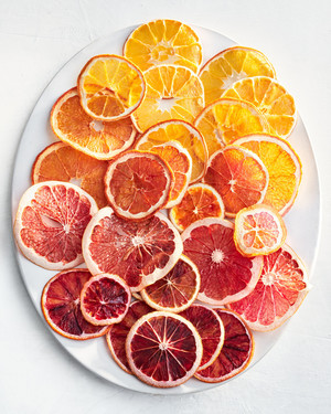 plate of citrus chips