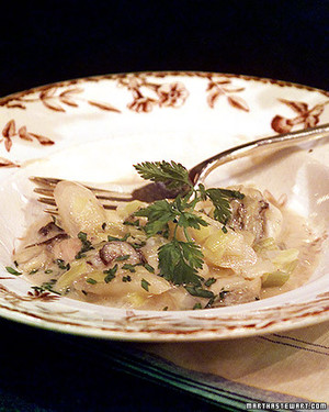 Glazed Oysters with Leeks and Salsify