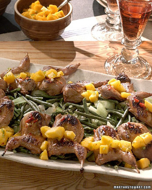 Grilled Quail with Sesame Dressing
